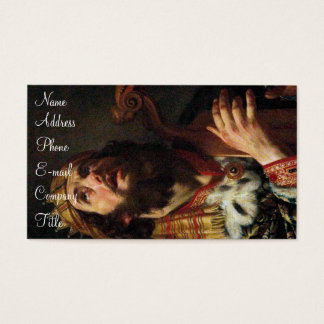 'King David Playing the Harp' Business Card