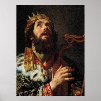 'King David Playing the Harp' Poster
