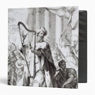 King David Playing the Lyre Vinyl Binders