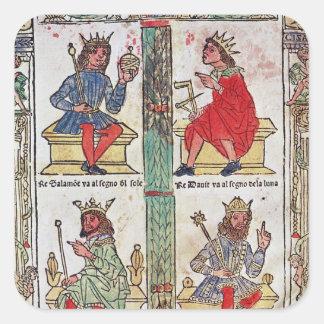 King David, Solomon, Luba and Turnis Square Sticker