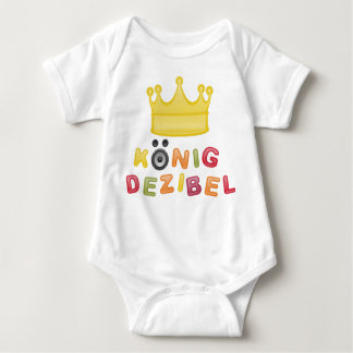 King decibel baby bodysuit