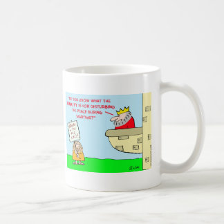 king disturbing peace wartime coffee mug