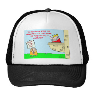 king disturbing peace wartime mesh hats