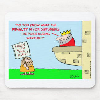 king disturbing peace wartime mouse pad