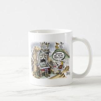 King Dollar Dethroned Print Coffee Mug
