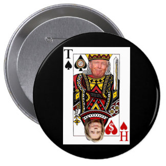 King Donald vs Queen Hillary Button