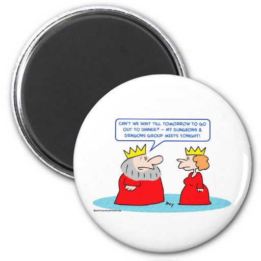 king dungeons dragons queen 2 inch round magnet