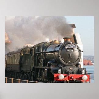 King Edward 1 Steam Engine Poster