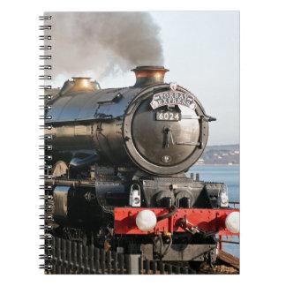 King Edward 1 Steam Engine Spiral Notebook