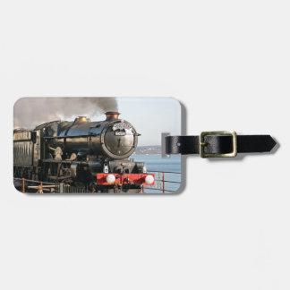 King Edward 1 Vintage Steam Engine with monogram Luggage Tag