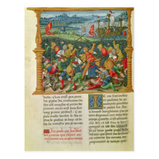 King Edward III Waging War at the Battle of Postcards