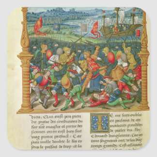 King Edward III Waging War at the Battle of Square Sticker
