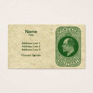 King Edward VII Prepaid Envelope Postage Stamp Business Card