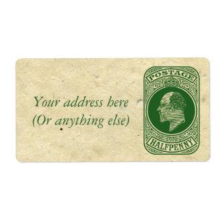 King Edward VII Prepaid Envelope Postage Stamp Label