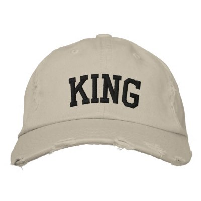 King Embroidered Hat Embroidered Baseball Cap
