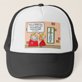king excalibur china manufactured trucker hat