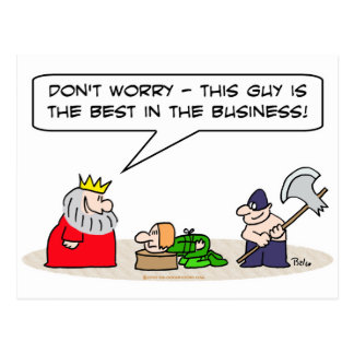 king executioner axe best business postcard