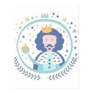 King Fairy Tale Character Postcard