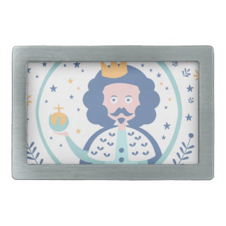 King Fairy Tale Character Rectangular Belt Buckle