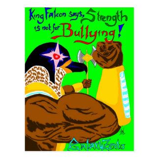 King Falcon Anti-Bullying Art Postcard