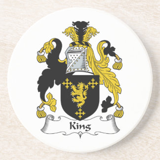 King Family Crest Drink Coasters