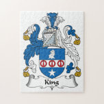 King Family Crest Jigsaw Puzzles