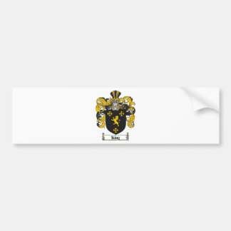 KING FAMILY CREST -  KING COAT OF ARMS BUMPER STICKER