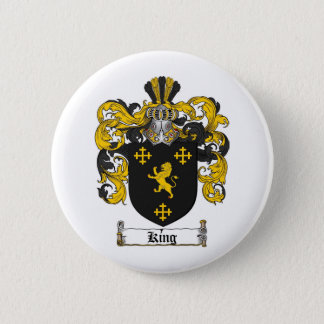 KING FAMILY CREST -  KING COAT OF ARMS BUTTON