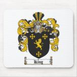 KING FAMILY CREST -  KING COAT OF ARMS MOUSE PAD