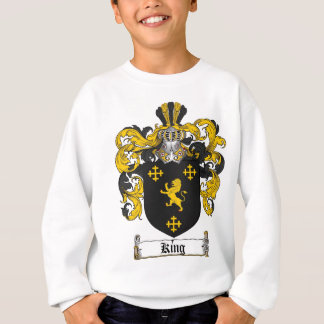 KING FAMILY CREST -  KING COAT OF ARMS SWEATSHIRT