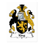 King Family Crest Postcard