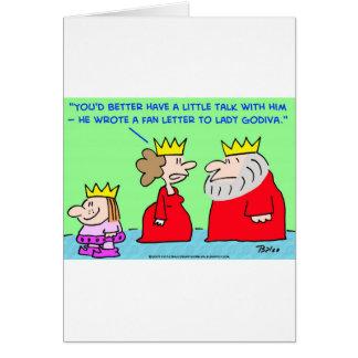 KING FAN LETTER LADY GODIVA GREETING CARD