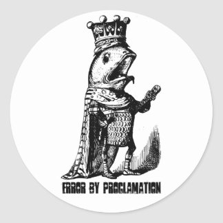 King fish:  Error by Proclamation Classic Round Sticker
