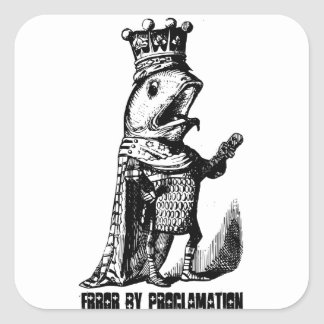 King fish:  Error by Proclamation Square Sticker