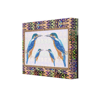 King Fisher Birds  : For Winners Canvas Print