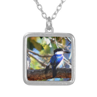 KING FISHER RURAL QUEENSLAND AUSTRALIA SQUARE PENDANT NECKLACE