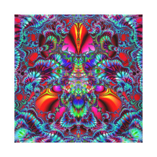 King Flame  Wrapped Canvas