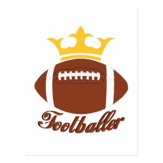 King Footballer Postcard