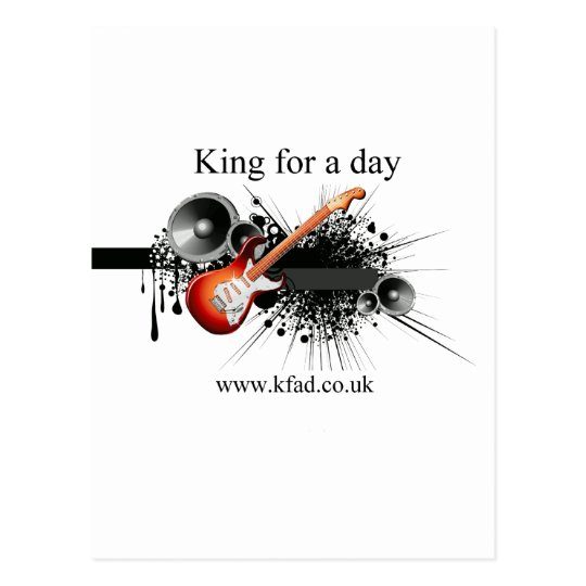 King for a day postcard
