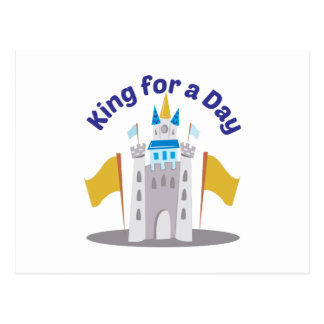 King For Day Postcard