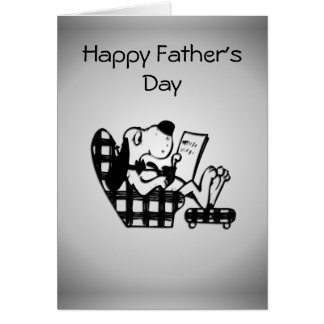 King for the Day Silver Father's Day Card