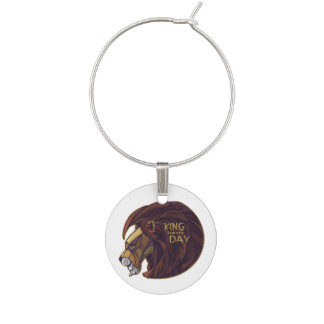 King for the Day Wine Glass Charm