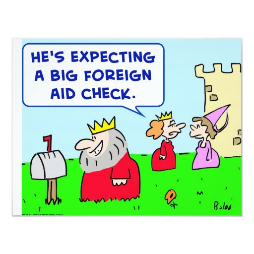 king foreign aid check card
