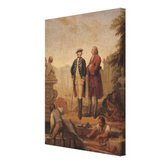 King Frederick II of Prussia Canvas Print