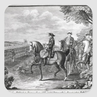 King Frederick II of Prussia  reviewing the Square Stickers