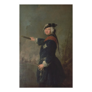 King Frederick II the Great of Prussia 1746 Posters