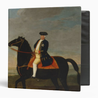King Frederick William I on Horseback 3 Ring Binder