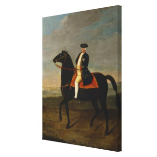 King Frederick William I on Horseback Stretched Canvas Print