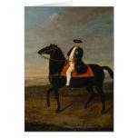 King Frederick William I on Horseback Greeting Card