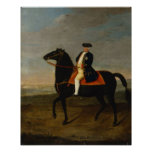King Frederick William I on Horseback Poster